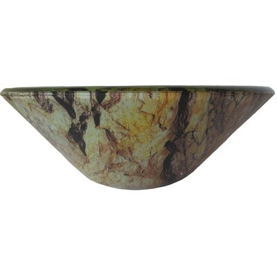 Mimetizzare Glass Circular Vessel Bathroom Sink