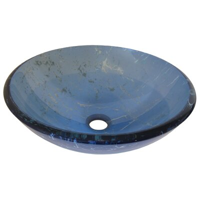 Marmo Glass Circular Vessel Bathroom Sink