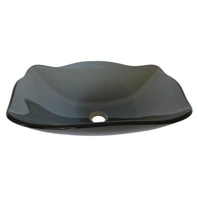 Rettangolare Glass Specialty Vessel Bathroom Sink