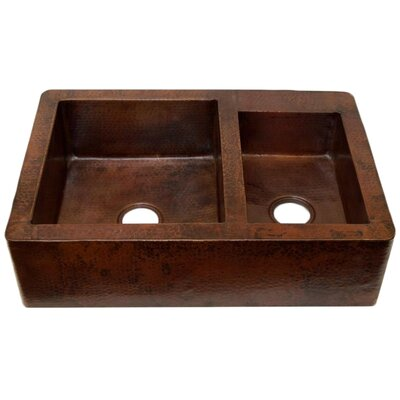 33 x 22 Double Bowl Farmhouse Kitchen Sink