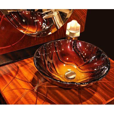 Rovente Glass Circular Vessel Bathroom Sink
