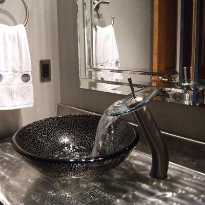 Ragnatela Glass Circular Vessel Bathroom Sink