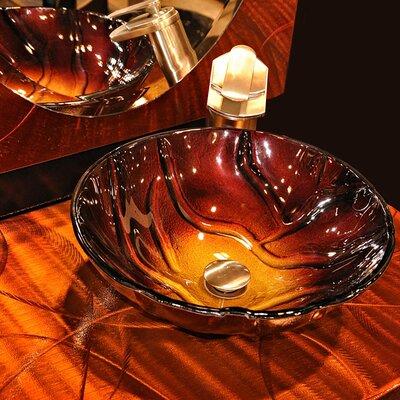 Rovente Glass Circular Vessel Bathroom Sink