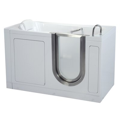 55 x 30 Deluxe Soaking Walk In Tub Door and Drain Location: Right
