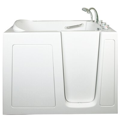 Low Threshold Air Massage Whirlpool Walk-In Tub Drain Location: Left