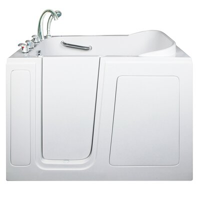 Short Long Hydrotherapy Massage Whirlpool Walk-In Tub; Right Drain Location: Left