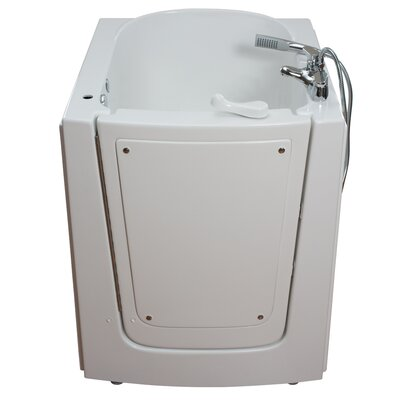 Front Entry Air Massage Whirlpool Walk-In Tub Drain Location: Left
