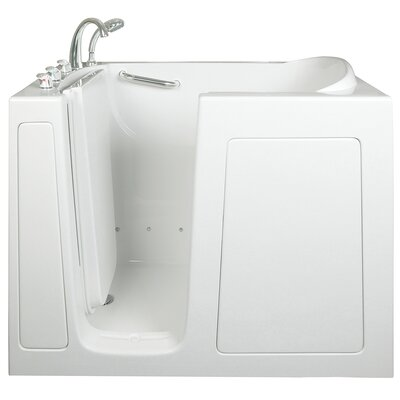 Low Threshold Air and Hydro Massage Whirlpool Walk-In Tub Drain Location: Left