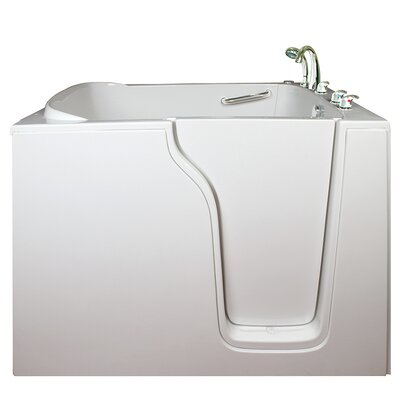 Bariatric Seat Air and Hydro Massage Whirlpool Walk-In Tub Drain Location: Right