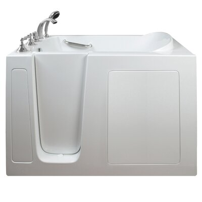 Economy Air/Whirlpool Massage Whirlpool Walk-In Tub Drain Location: Left