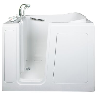 Short Long Air and Hydro Massage Whirlpool Walk-In Tub Drain Location: Left