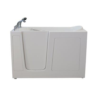 Economy Dual Air Massage Whirlpool Walk-In Tub Drain Location: Left