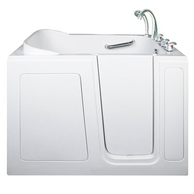 Short Long Air and Hydro Massage Whirlpool Walk-In Tub Drain Location: Right