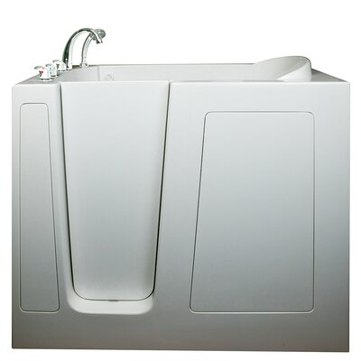 Deep High Whirlpool Walk-In Tub Drain Location: Left