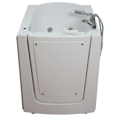 Front Entry Hydrotherapy Massage Whirlpool Walk-In Tub Drain Location: Left
