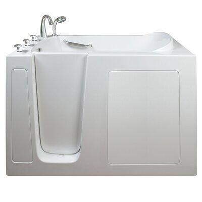 Narrow Wide Air Massage Whirlpool Walk-In Tub Drain Location: Left