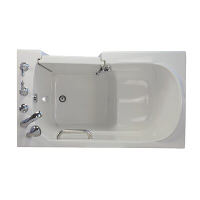 Economy Soaking Walk-In Tub Drain Location: Right