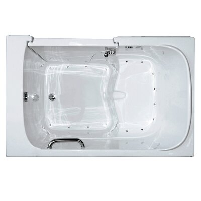 Bariatric Air Massage Walk-In Tub Drain Location: Left