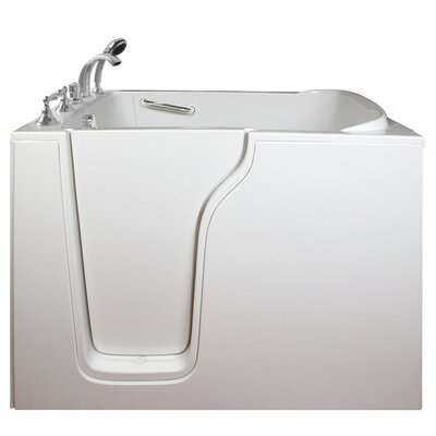 Economy Air Massage Whirlpool Walk-In Tub Drain Location: Left