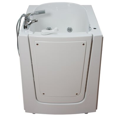 Front Entry Hydrotherapy Massage Whirlpool Walk-In Tub Drain Location: Right