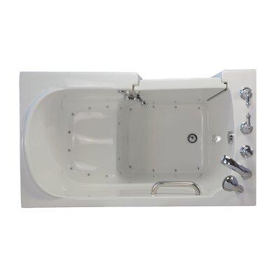Economy Air Massage Whirlpool Walk-In Tub Drain Location: Left