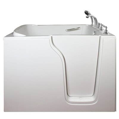 Economy Air Massage Whirlpool Walk-In Tub Drain Location: Right