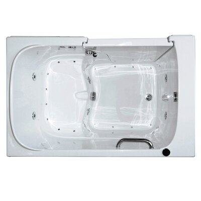Economy Dual Air Massage Walk-In Tub Drain Location: Left