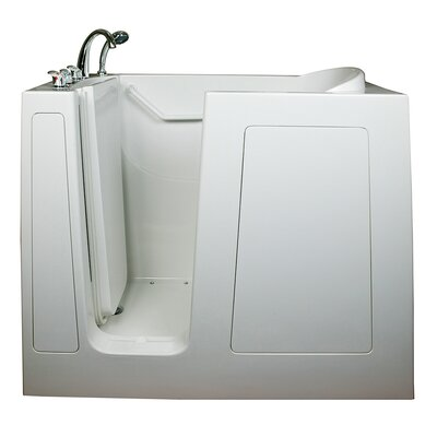 Deep High Air Massage Whirlpool Walk-In Tub Drain Location: Left