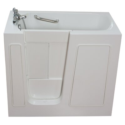Small Long Whirlpool Walk-In Tub Drain Location: Left