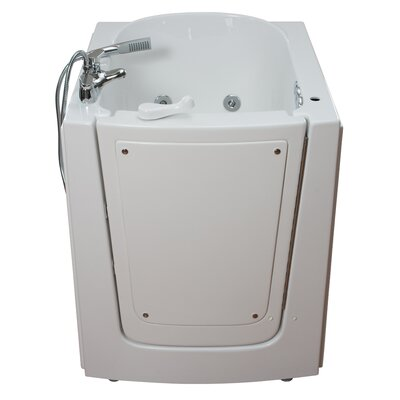 Front Entry Air and Hydro Massage Whirlpool Walk-In Tub Drain Location: Right