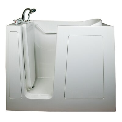 Deep High Hydrotherapy Massage Whirlpool Walk-In Tub Drain Location: Left