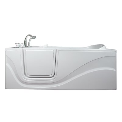 Lay Down Long Soaking Walk-In Tub Drain Location: Left