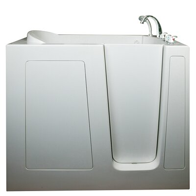 Deep High Air and Hydrotherapy Massage Whirlpool Walk-In Tub Drain Location: Left