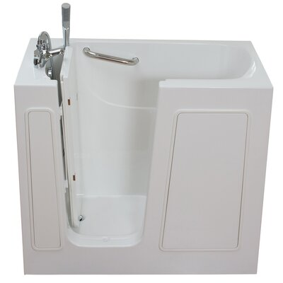 Small Long Hydrotherapy Massage Whirlpool Walk-In Tub Drain Location: Left