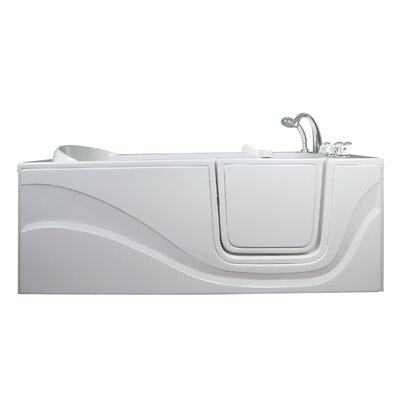 Lay Down Long Soaking Walk-In Tub Drain Location: Right