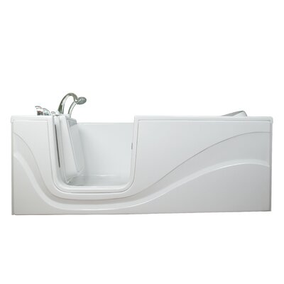 Lay Down Long Air Walk-In Tub Drain Location: Left