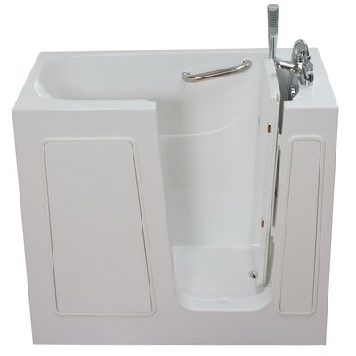 Small Long Hydrotherapy Massage Whirlpool Walk-In Tub Drain Location: Right