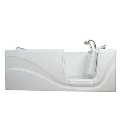 Lay Down Long Air Walk-In Tub Drain Location: Right
