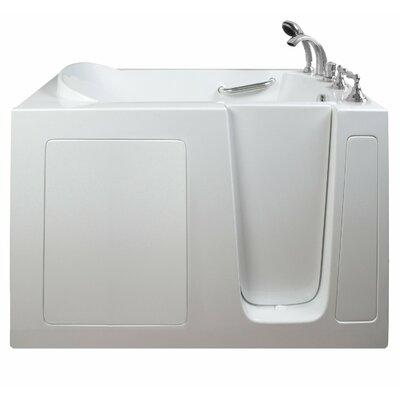 Economy Dual Air Massage Whirlpool Walk-In Tub Drain Location: Right