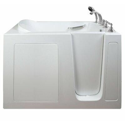 Economy Dual Air Massage Whirlpool Walk-In Tub Drain Location: Right