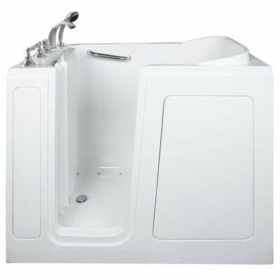 Economy Dual Air Massage Whirlpool Walk-In Tub Drain Location: Left