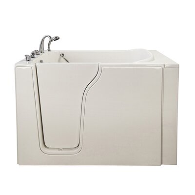 Bariatric 33 54.25 x 40 Whirlpool Walk In Tub Drain Location: Left Hand