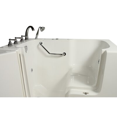 Wheelchair Access 51.5 x 40.25 Whirlpool Bathtub Drain Location: Left Hand