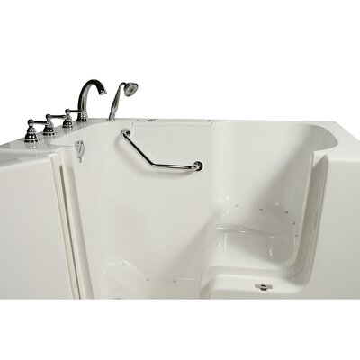 Wheelchair Access 51.5 x 40.25 Air Massage Whirlpool Bathtub Drain Location: Left Hand