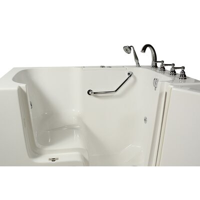 Wheelchair Access 51.5 x 40.25 Whirlpool Bathtub Drain Location: Right Hand
