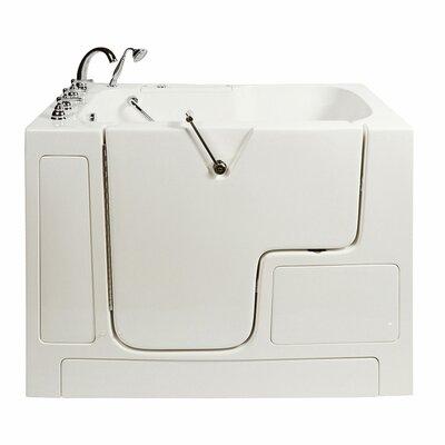 Wheelchair Access 51.5 x 40.25 Air Massage Whirlpool Bathtub Drain Location: Left Hand