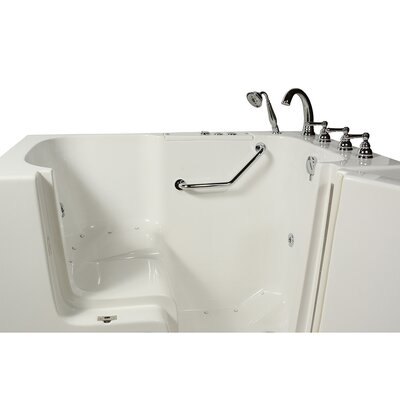 Wheelchair Access 51.5 x 40.25 Air Massage Whirlpool Bathtub Drain Location: Right Hand