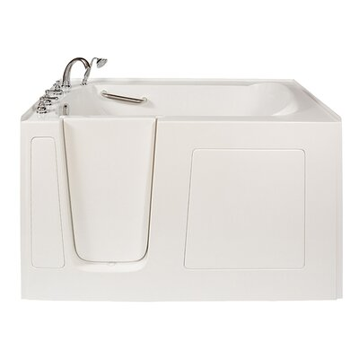 Long 60 x 38 Air Massage Whirlpool Walk-In Tub Drain Location: Left Hand