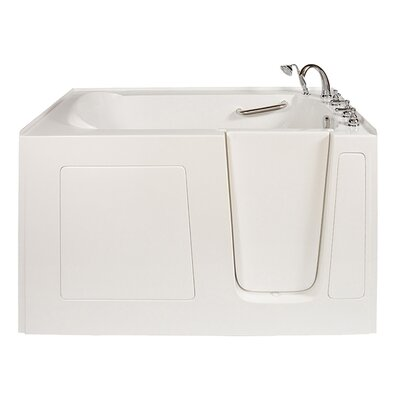 Long 60 x 38 Air Massage Whirlpool Walk In Tub Drain Location: Right Hand