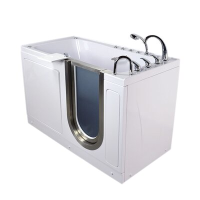 Ultimate 60 x 30 x 38 Sliding Door Walk-In Bathtub Drain Location: Right
